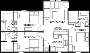 floor plans 3 bedroom 2 bath floor plans the lodges of east lansing housing east