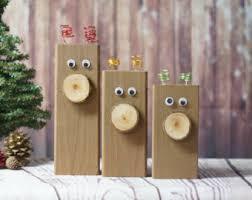 Rustic Reindeer Christmas Decorations wooden reindeer etsy