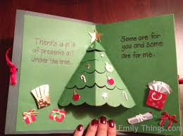 pop up christmas cards pop up card pop up christmas tree and presents emily s enchantments