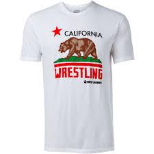 California Flag Bear California Wrestling Flag T Shirt Apparel Wrestlingmart Free