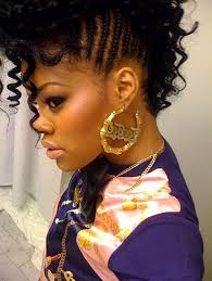 for black women mohawk with braids