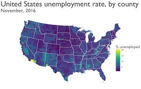 Data Map Mapping Unemployment Data 2016 R Bloggers