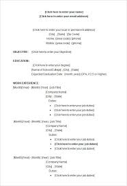 Openoffice Resume Templates Resume Simple Resume Template Open Office Sample Word College