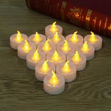 light bulbs that flicker like candles 16pcs yellow flickering candle led light bulb battery operated night