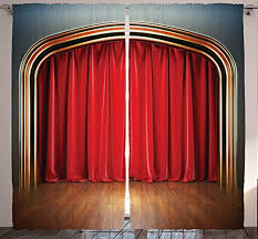 Red Curtains In Bedroom - amazon com stage curtains for bedroom drapes for living room home