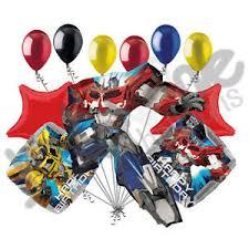 optimus prime birthday 11 pc transformers optimus prime happy birthday balloon bouquet