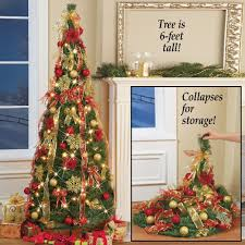 amazon com collapsible pop up christmas tree 6 ft with lights