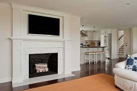 Corner Gas Fireplace With Tv Above by Marble Fireplace Design Ideas