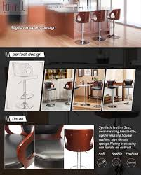 288 best home bar images amazon com homall bar stool walnut bentwood adjustable height