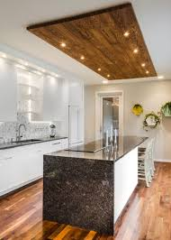 kitchen with an island design photos hgtv contemporary white kitchen with wood panel ceiling