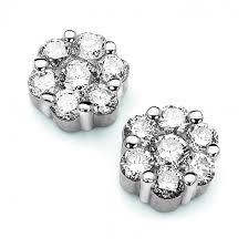 diamond cluster earrings diamond 14kyg diamond cluster earrings 0 75 carat jewelry