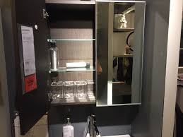 small mirrored medicine cabinet an option to add to the storage