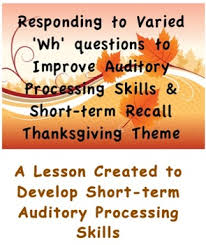 developing auditory processing term memory recall
