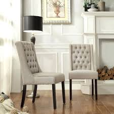 tufted dining room chairs white linen tufted dining chair beige chairs abbyson living colin