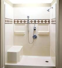 Bathroom Shower Stalls With Seat Walkin Shower Stalls Shower With Grab Bars And Bench Seat Walk In
