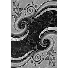 Rugs Black Black Grey Silver Rugs Rug Designs