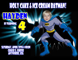 Personalized Birthday Invitation Cards Batman Personalized Photo Birthday Invitations 2012 1 09