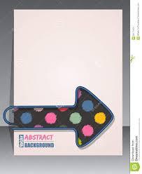 Scrapbook Binder Cool Scrapbook Cover With Arrow Binder Clip Stock Vector Image