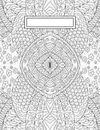 back to binder cover coloring pages