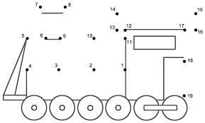 train connect the dots count by s transportation page math