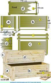 fabrication de coffre en bois faire un coffre de jardin plan de montage