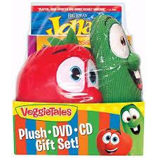 veggie tales easter dvd veggie tales easter gift set w cd bob larry plush