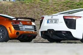 lexus lfa gt lexus lfa und audi r8 gt im vergleichstest auto motor und sport