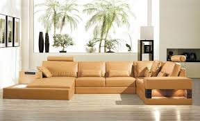 Camel Sectional Sofa Camel Bonded Leather Sectional With Built In Lights Virgin Islands