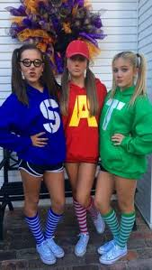 this alvin and the chipmunks costume is the perfect tweens group