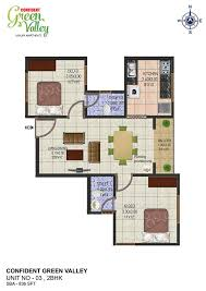 2 bhk flats in trivandrum confident group