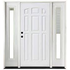 Prehung Exterior Steel Doors Blinds Between The Glass Steel Doors Front Doors The Home Depot