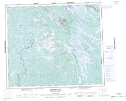 printable topographic map of schefferville 023j nf