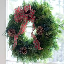 fresh wreaths country plaid christmas wreath traditional wreath