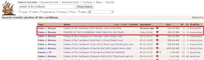 of the caribbean 5 leaked on torrent in bluray