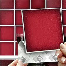 18 carmine red effect wall tiles 2mm thick and solid self