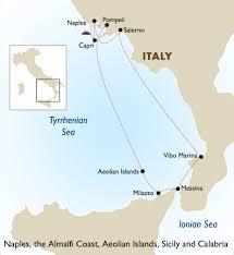Sicily Italy Map by Naples The Almalfi Coast Aeolian Islands Sicily And Calabria