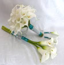 calla bouquet calla wedding bouquet with stem real touch white