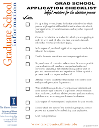 applying to graduate use this application checklist to