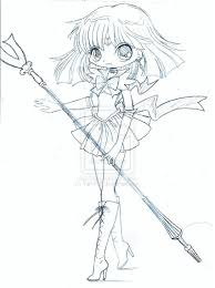 sailor saturn chibi sketch by yampuff on deviantart lineart
