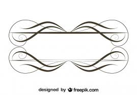 retro ornamental minimalist frame design vector free