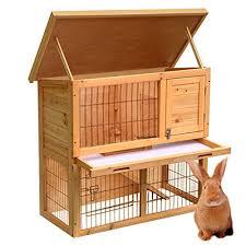 Rabbit Hutch Wood Go2buy Wood Pet Rabbit Hutch 36