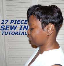 can you sew in extensions in a pixie hair cut 27 piece sew in for beginners youtube