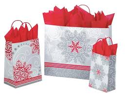 christmas shopping bags christmas lace paper shopping bags