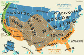 The Map Of Us Mapped How Us Climates Stack Up Against Climates Around The World