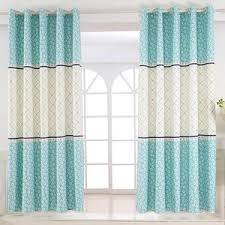 Blue And White Gingham Curtains Navy Blue Elk Patterned Beautiful Bay Window Curtains