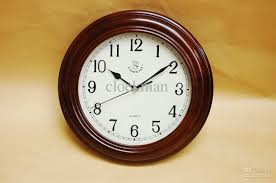 Wooden Wall Clock High Glass Round Home Decoration Wooden Wall Clock At House Living