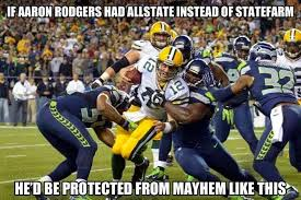 Allstate Meme - 22 meme internet if aaron rodgers had allstate instead of statefarm