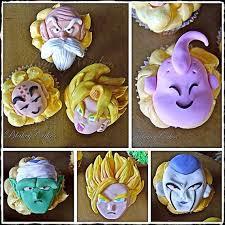 dragonball z anime fondant cupcake toppers one by blakeycakes