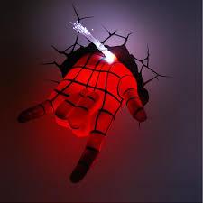 Iron Man Night Light Marvel Avengers Spider Man Hand 3d Deco Wall Led Night Light Art