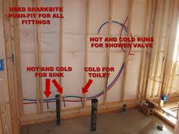 How To Finish Basement Floor - how to finish a basement bathroom pex plumbing